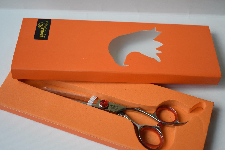 Professional Hair Scissors/Shears 5.5'' For Hair Cutting Convex Edge Blade Japanese Process Shears 440C Stainless Steel