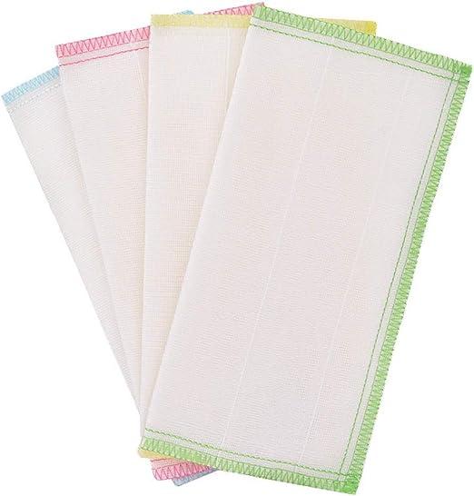 MED Color Mixto, el Trapo de Limpieza 8 Capas de Gasa de algodón ...