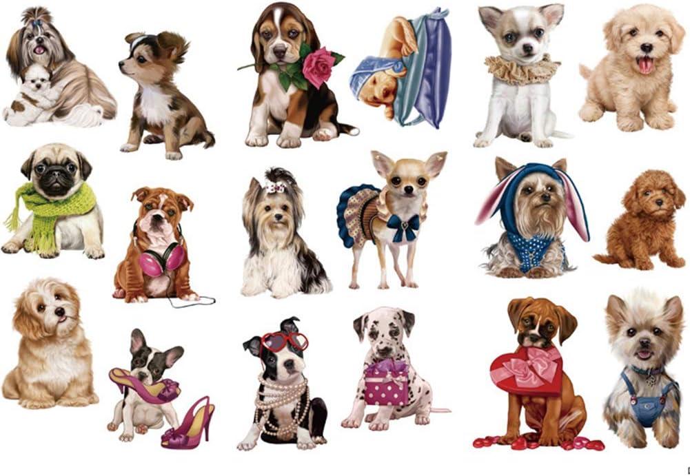Kanggest. Pegatinas para Diario Perro Mascota y DIY Decoración para Scrapbooking Memo Ornamento Herramienta de Pasta de Material de Ilustración de Libro(3 Hojas)