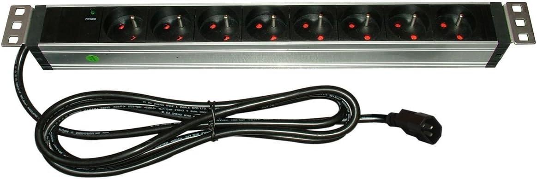 Infosec 61475 L8 RM C14-Bandeau Rackable 8 Prises FR Noir