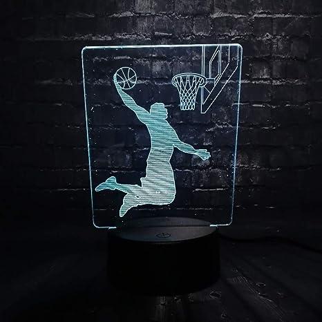 KangYD Baloncesto Dunk Man LED Night Light / 3D Desk Lámpara ...