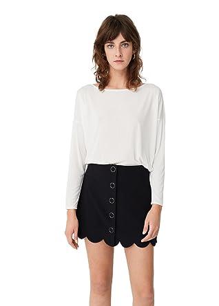 mieux aimé 32671 1bc7d Mango - Pull - Femme - Blanc - Medium: Amazon.fr: Vêtements ...