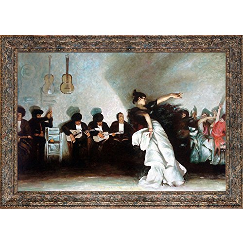 (overstockArt El Jaleo by Sargent with Parisian Tortoise and Ornate Detail with Antique Tortoise Shell Finish)