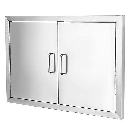 Amazon.com : VEVOR Flush Access Door 304 Stainless Steel BBQ Doors ...
