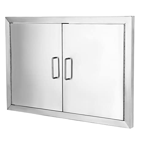 VEVOR Flush Access Door 304 Stainless Steel BBQ Doors 19u0026quot;x28u0026quot; Double Access Door  sc 1 st  Amazon.com & Amazon.com : VEVOR Flush Access Door 304 Stainless Steel BBQ Doors ...