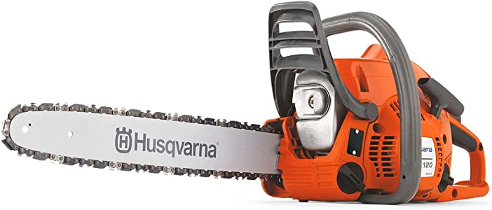 Husqvarna 120 Mark II 16 in. Gas Chainsaws, Orange/Gray