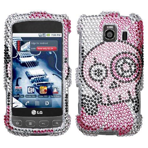 (Tear Diamante Phone Protector Cover for LG LS670 (Optimus S), LG Optimus U, LG VM670 (Optimus V))
