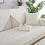 Cotton Sectional sofa throw cover pad Sofa furniture protector for pets dog All season Anti-slip Reversible U L shape Couch cover-1 piece-I 28x83inch(70x210cm)