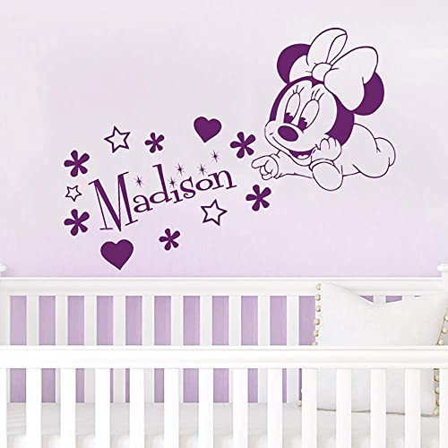 Amazon Com Name Wall Decal Minnie Mouse Vinyl Decals Sticker
