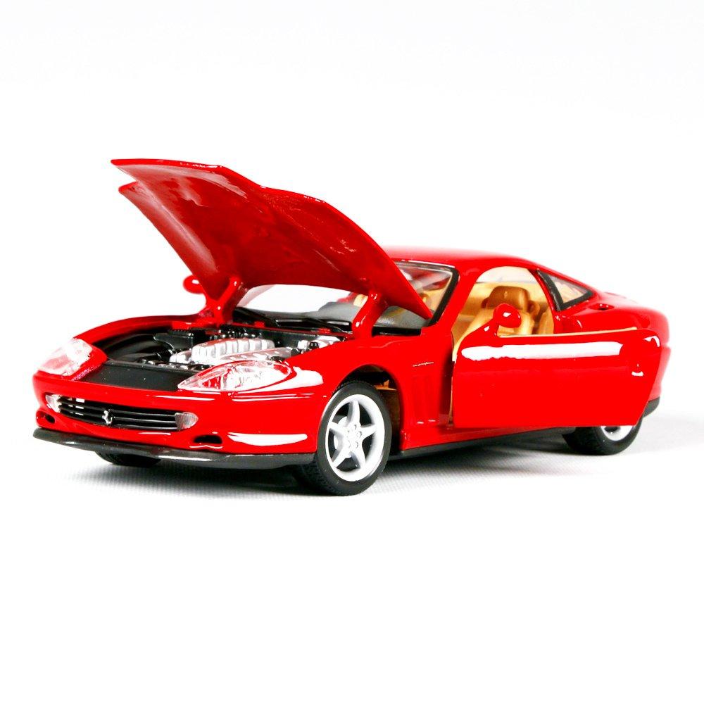 Penao Adornos de Coche, Modelo de Aleación, Modelo del Coche de la Aleación de la Simulación de Ferrari 550, Relación 1:24: Amazon.es: Jardín