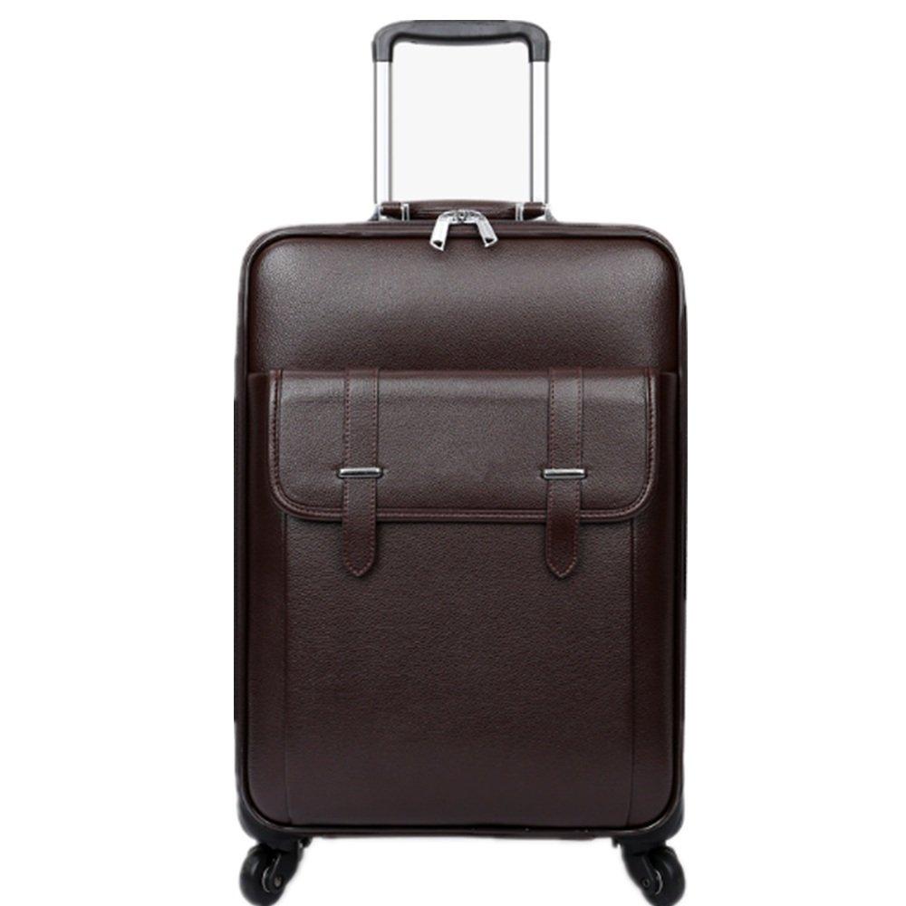 荷物ケース, スーツケース, PUポータブルビジネス旅行トランクボックス男性と女性のためのトラベルボックス20分の24インチ 荷物エアボックス (サイズ : 24) B07TV9W2TX  24