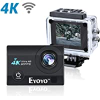"Boblov SJ9000 4K HD WiFi Impermeable Cámara de Acción Deportiva con 2.0""LCD 16MP DVR Videocámara Video de Buceo(Negro)"