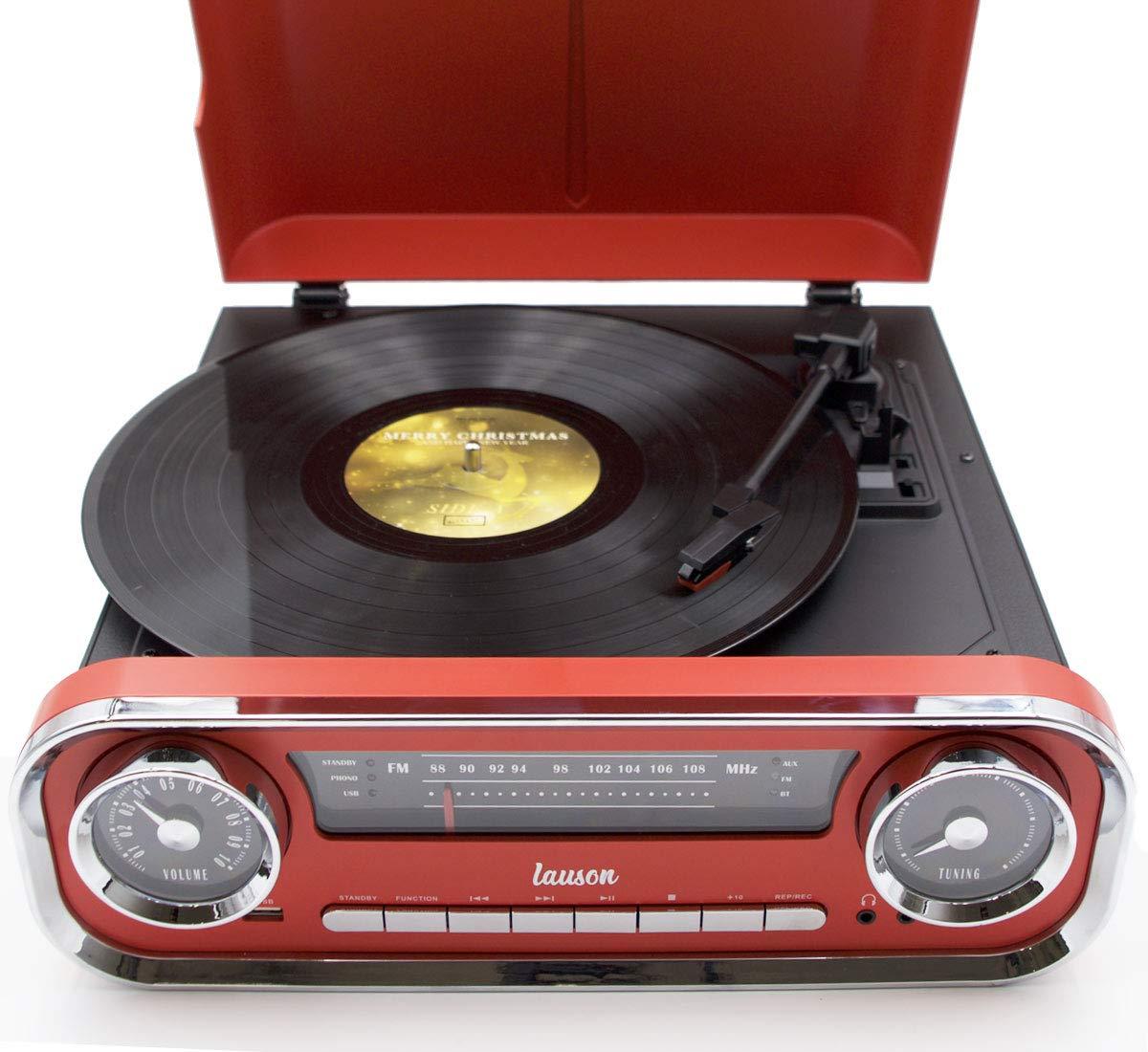 Lauson 01TT17 Tocadiscos Diseño Vintage Coche de Colección con 2 ...