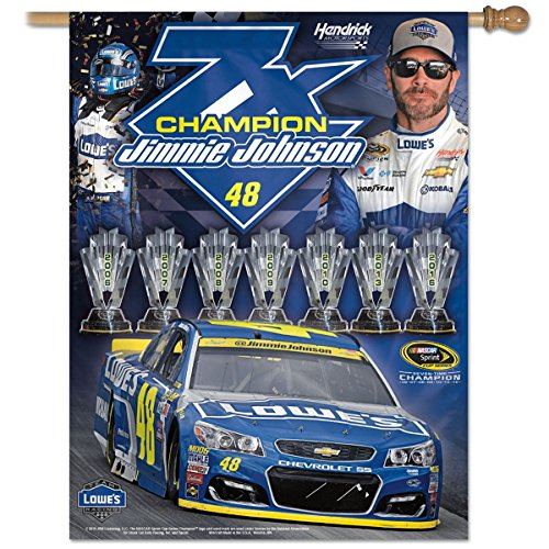 Jimmie Johnson 7-Time Sprint Cup Series Champion Vertical Flag