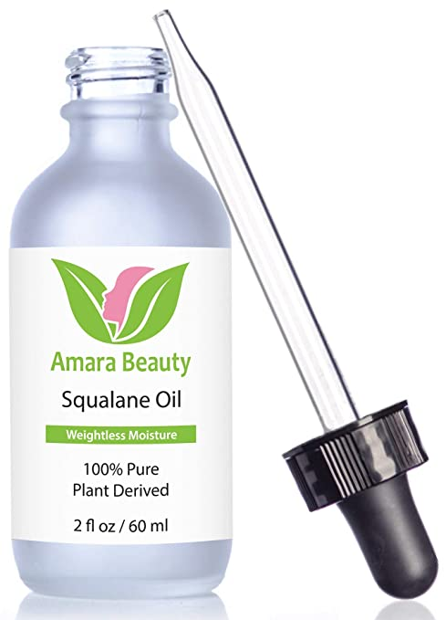 Amara Beauty Squalane Oil Moisturizer with 100% Pure Plant Derived Squalane
