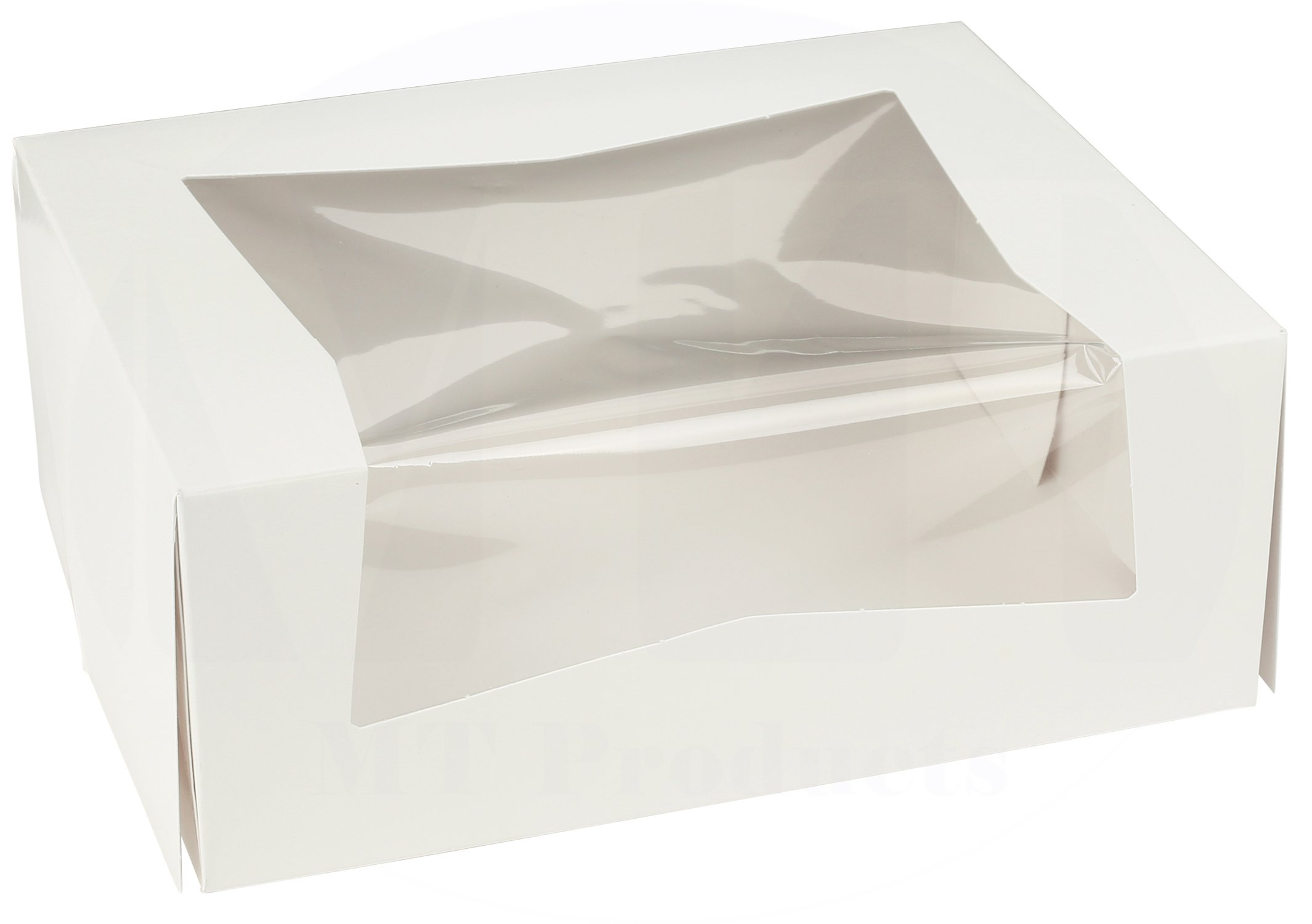 9'' Length x 7'' Width x 3.5'' Height Kraft Paperboard Auto-Popup Window Bakery Box by MT Products (Pack of 15)