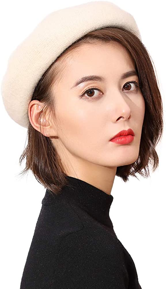 Wool French Beret Winter...
