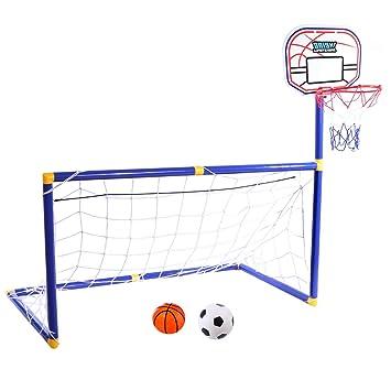 caa2598d91054 YAKOK But de Football, Enfants, 87   88   45 cm, Kids Soccer Goal et ...