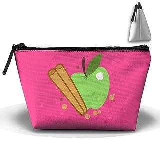 Tracolla trapezoidale verde mela novità borsa da toilette viaggio Trucco borsa con cerniera