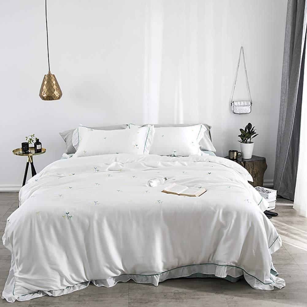 夏のテンセルの寝具、ヨーロッパの王女様式のはすの葉のレースのキルトシート B07TDKD2Z9