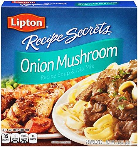 Lipton Recipe Secrets Onion Mushroom Recipe Soup & Dip Mix 1.8oz, (Pack of 3)