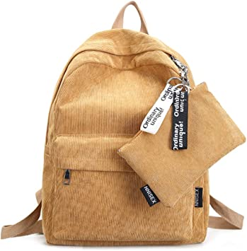 Women Mini Travel Casual Girls Backpack Corduroy Shoulder Bag Rucksack Purse !