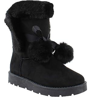 By Shoes , Botte Fourrée Style Daim , Femme