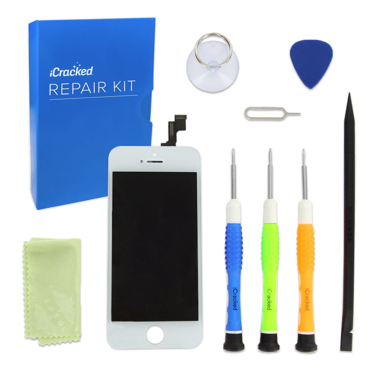 Amazon.com: iCracked iPhone SE Screen Replacement Kit (White): Cell Phones  & Accessories