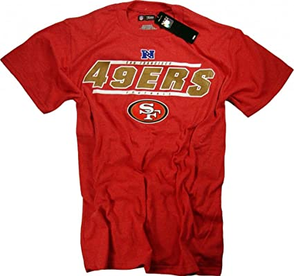 Officially Licensed by The NFL - Camiseta - Hombre-Mujer Rojo rosso Talla:XXL