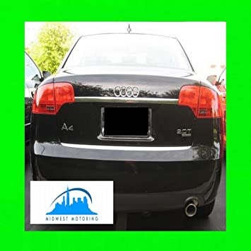 2005 – 2008 Audi A4 cromado Trunk borde moldeado 2006 2007 05 06 07 08 portón
