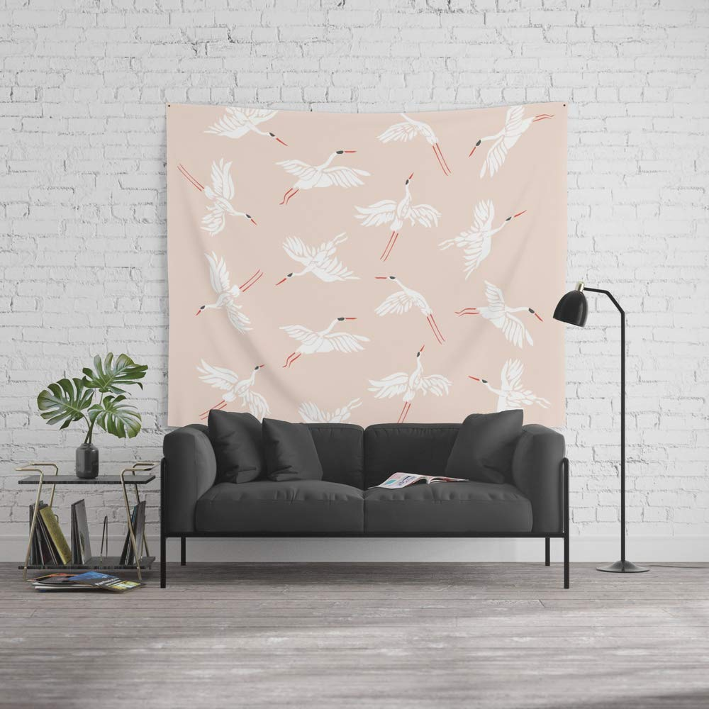 Society6 Wall Tapestry, Size Large: 88'' x 104'', Crane Dance by megangalante