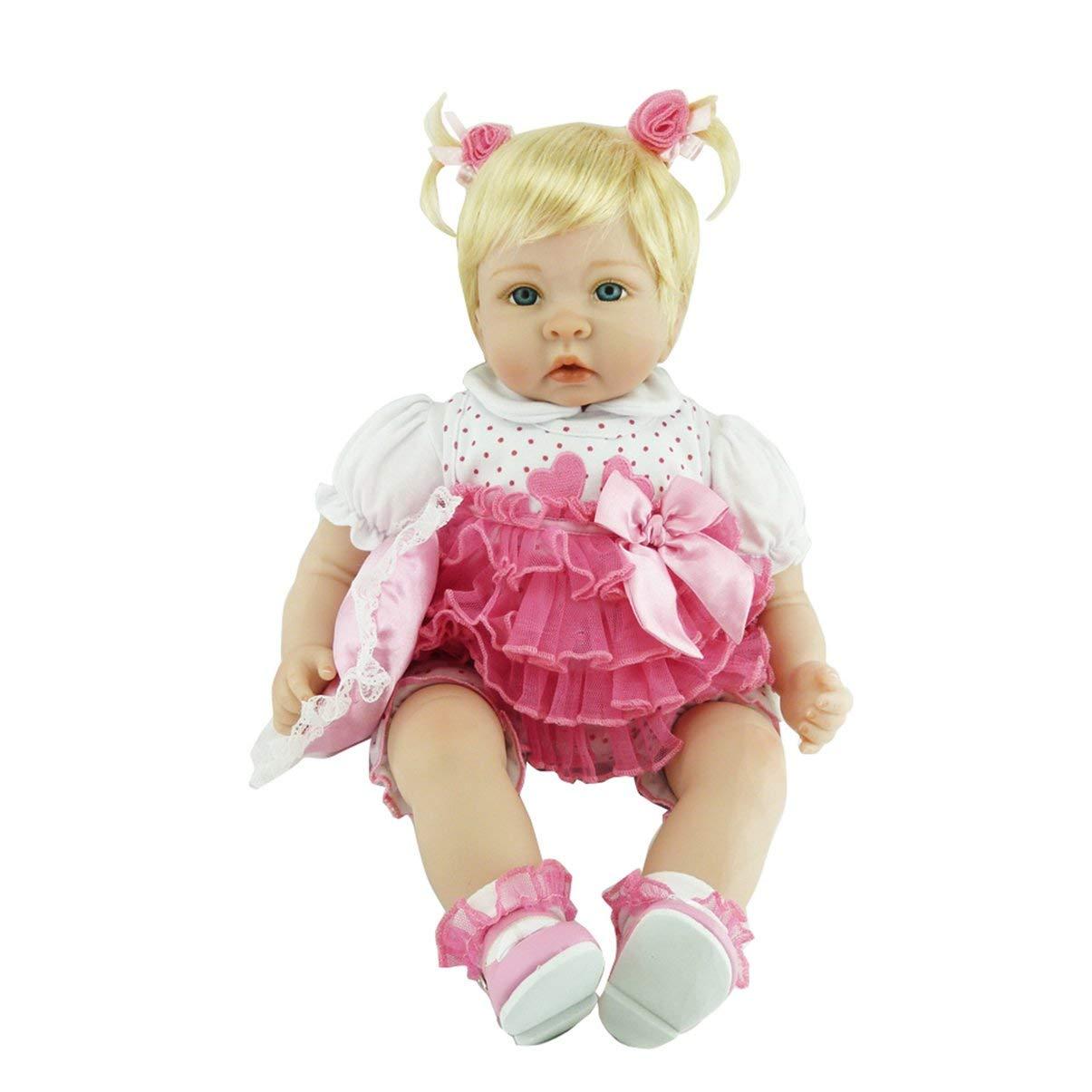 JullyeleDEgant 50 cm Handmade Babe Babe Babe Reborn Baby Puppe Voller Körper Weiche Silikon Vinyl Baby Puppe ungiftig Sicheres Spielzeug Lebensechte Newborn Baby Puppe Spielzeug d250eb