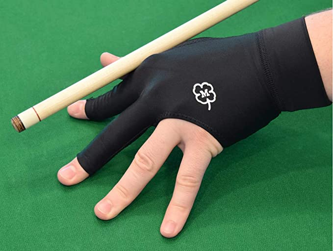 Smooth Left Hand Embroidery Gloves Three Finger Separate-finger Billiard Glove d