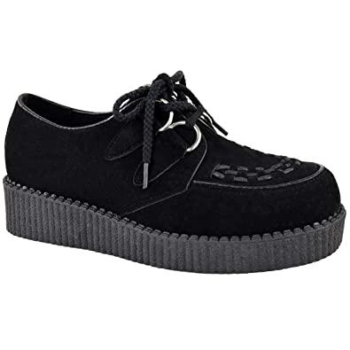 582ca37ec0afb Fashion Thirsty Womens Creeper Goth Punk Platform Lace Up Shoes Flat Size
