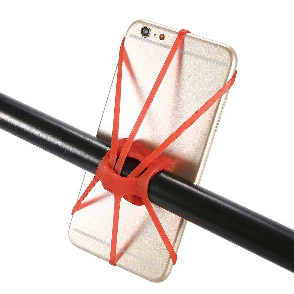 Lixada 4個パックバイク電話マウント自転車サイクリングゴムシリコンバンド携帯電話マウントホルダーストラップ B0743FPFV6