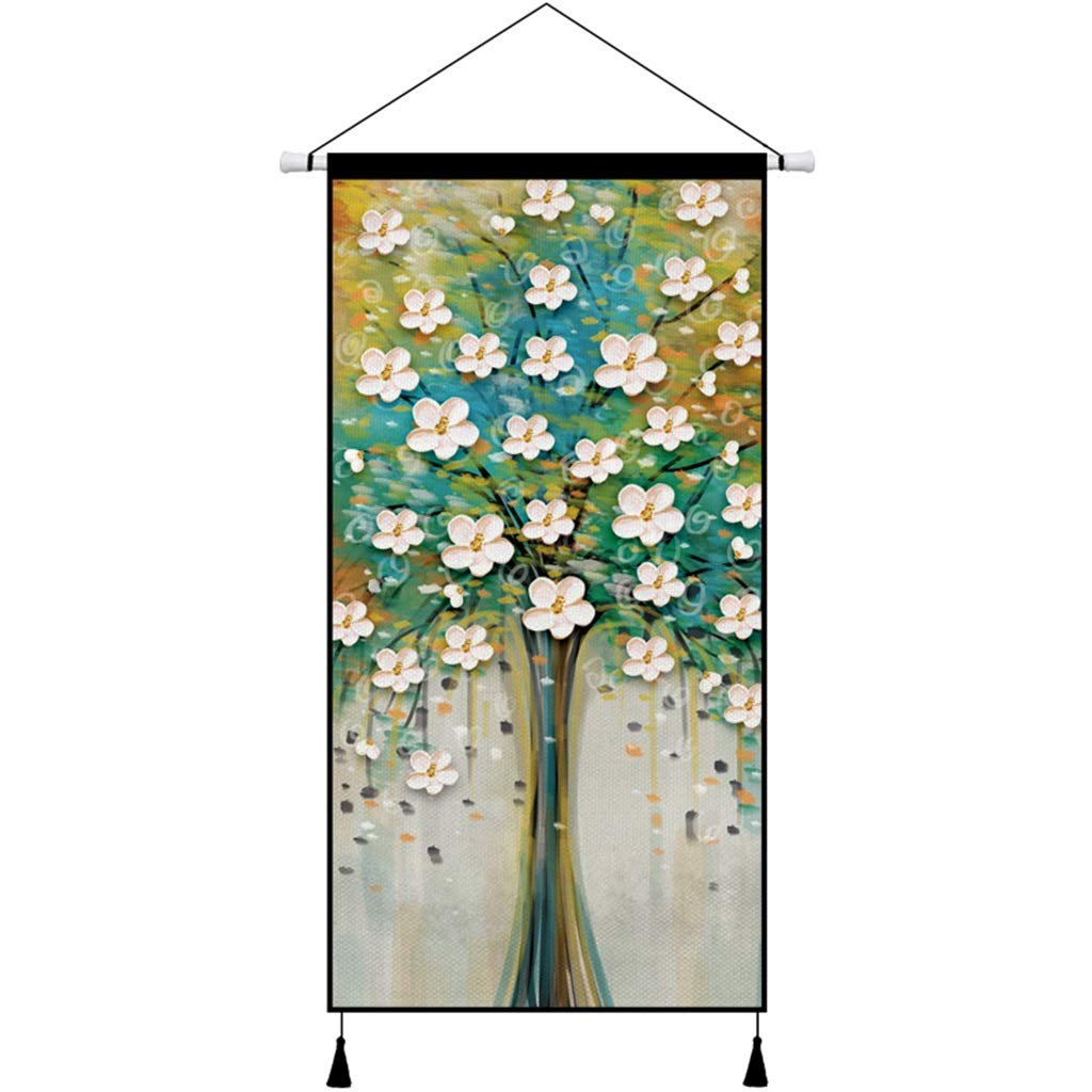 140CM×70CM Tapestry Oil Painting Style Wall Hanging Bedroom Living Room Wall Corridor Decorative Wall Hanging Tapestry (Color : H) by HappyL