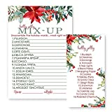 Holiday Floral Christmas Word Scramble Party Game Set (25 Pack)