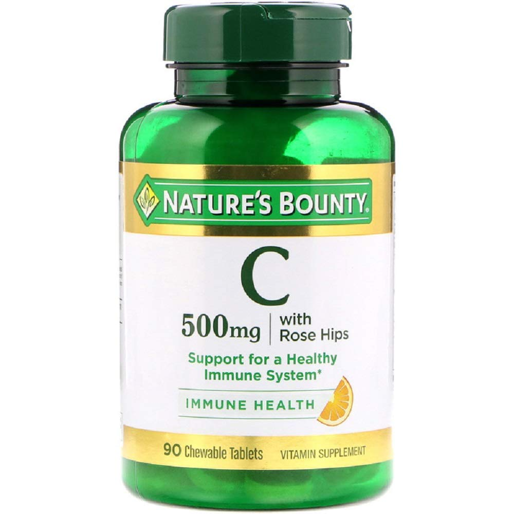 Nature's Bounty, C-500 mg Delicious Chewable w/ Rose Hips Tablets, 90 ct