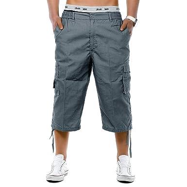 c93980b2b2d25 Fuibo Vêtements Cargo Shorts Bermudas Hommes Pantacourt Grande Taille  Vintage Eté Durable Outdoor Casual Coton Shorts