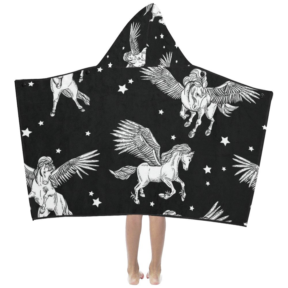 Unique Debora Custom Hooded Bath Towels Soft Warm Lightweight for Kids with Majestic Summer Sunset Over The Sea