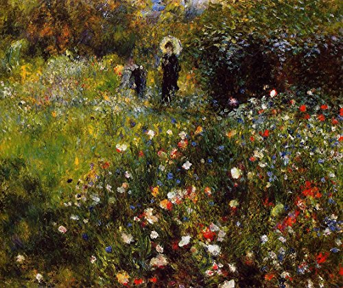 Summer Landscape also known as Woman with a Parasol in a Garden by Pierre Auguste Renoir - 20