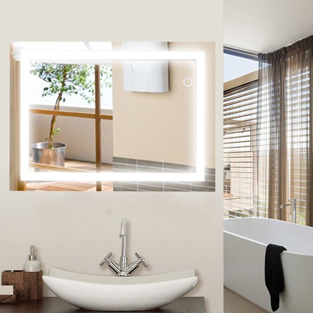 Wefun Badspiegel mit Beleuchtung,Badezimmerspiegel mit Beleuchtung,badezimmerspiegel LED Touch (600mm800mm) Deutschland Lager