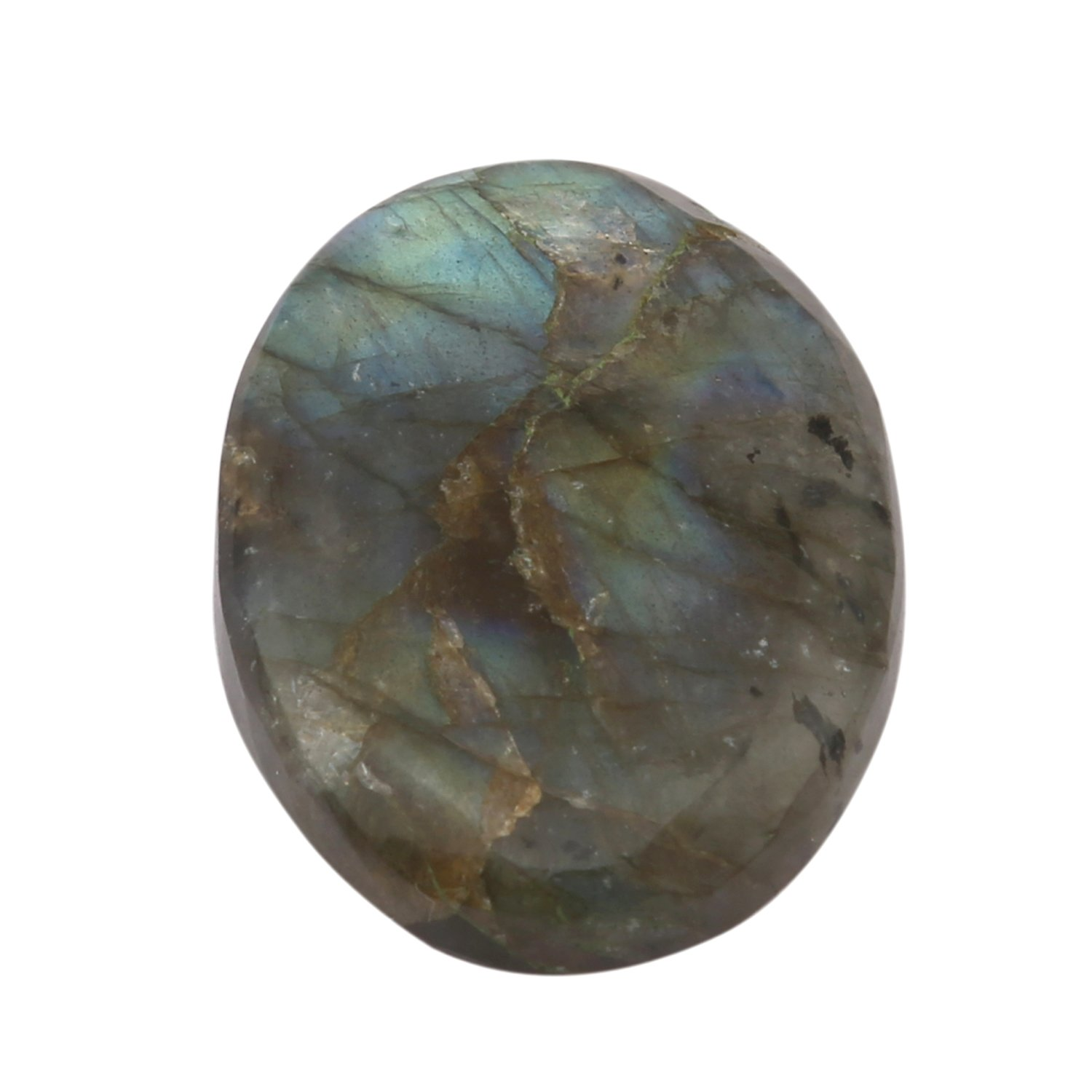 Aatm Healing Stone Labradorite Crystal Cabochon Pocket Stone (Stone of Transformation) Aatm Collection CNGPC-22