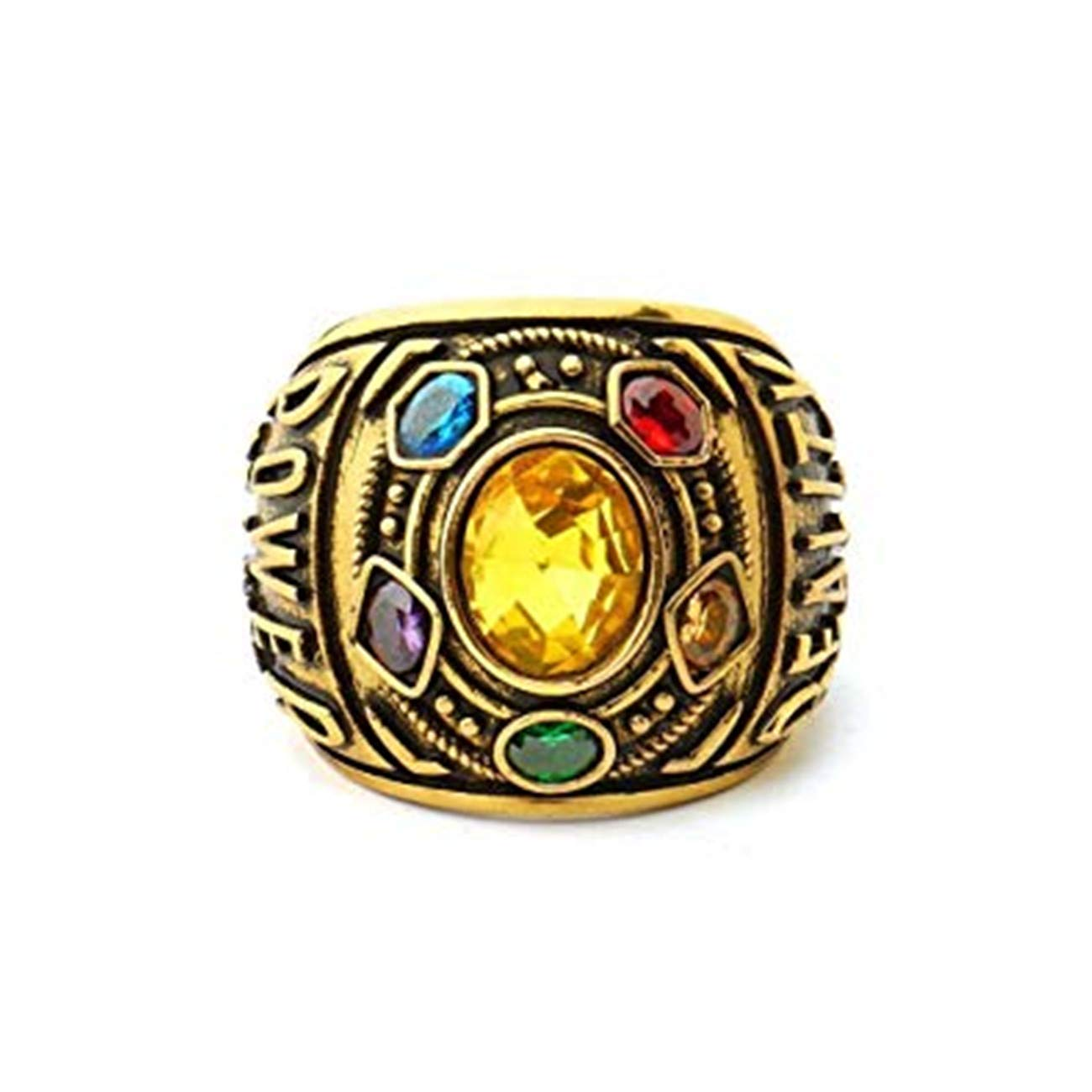 Excow Jewelry Thanos Rings Infinity War Soul Stone Power Ring Gold Ring Cosplay Costume Prop