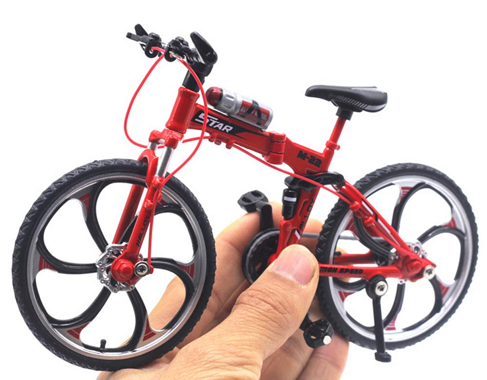 HAPTIME 6.92 inch Zinc Alloy Racing Bicycle Mountain Bike Mini Bicycle Model Cool Toy Decoration Crafts for Home by HAPTIME