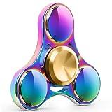 Fidget spinner antistress, Migimi Tri Fidget Spinner Giocattolo Alta Velocità Superb Acciaio Inox Ansia Stress Noia Relief per Adulti e Bambini (colorato)
