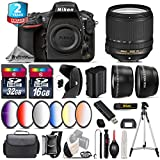 Holiday Saving Bundle for D810 DSLR Camera + 18-140mm VR Lens + 2.2x Telephoto Lens + 0.43x Wide Angle Lens + 6PC Graduated Color Filer Set + 2yr Extended Warranty + 32GB - International Version