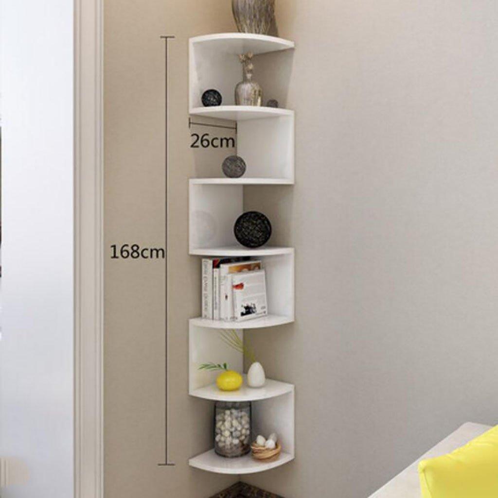 Amazon Com Gspsgj Corner Bookshelf Wall Mounted Living Room Storage