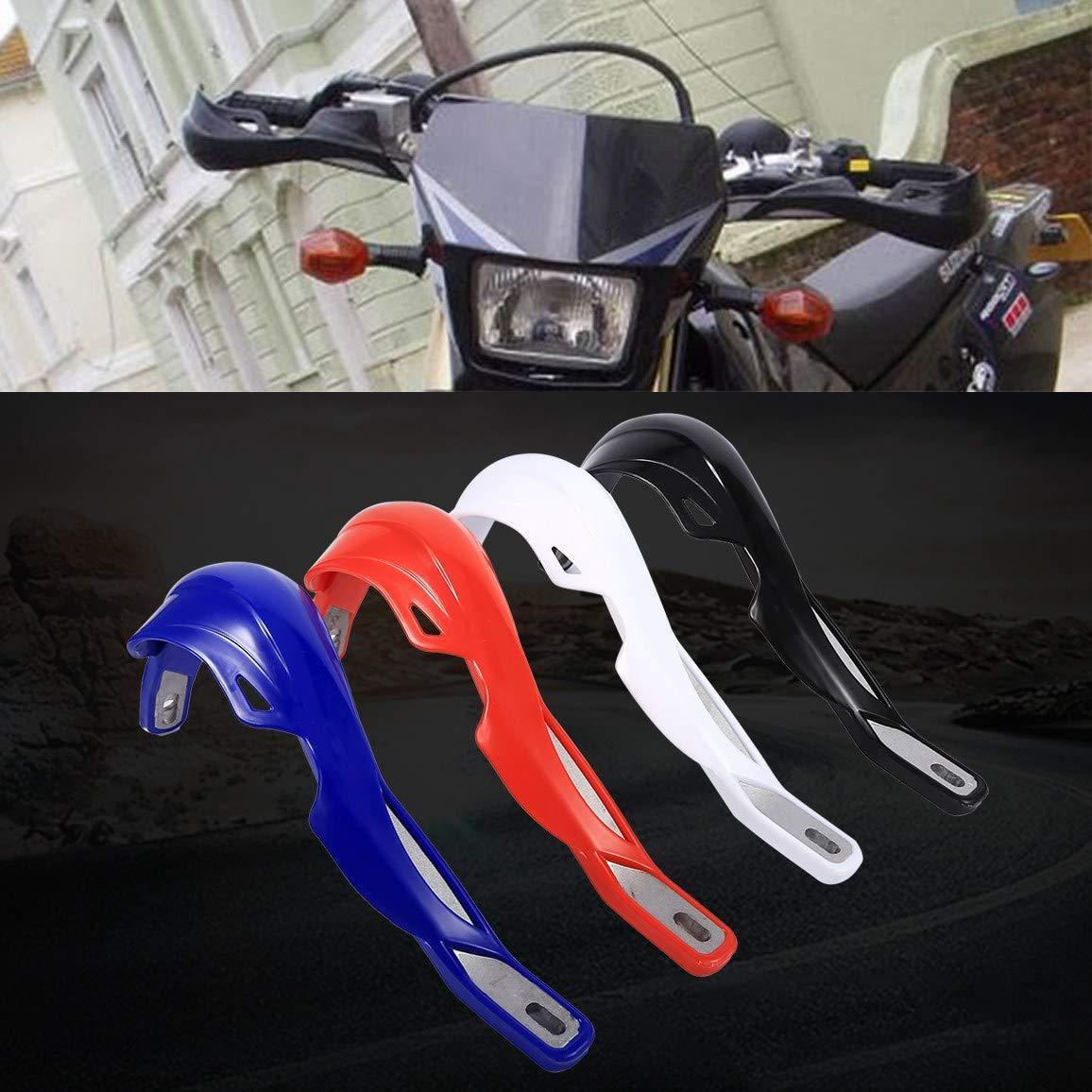 rojo Guardamanos para Moto 1 par Paramanos al Manillar Universal Aleaci/ón de Aluminio