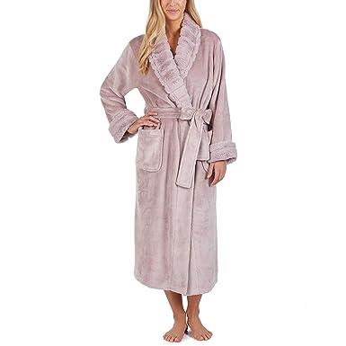 ccbe467a69 Carole Hochman Women s Plush Robe Dressing Gown Mauve Size L 40 quot ...